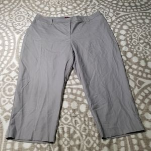 212 Collection Size 18W Light Gray Capri Pants